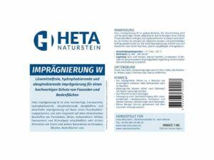 Imprägnierung W für Naturstein 5L produktinfo min