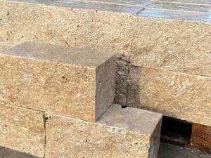 Mauersteine Weiss Travertin