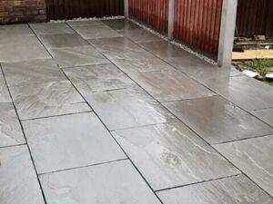 Sandsteinplatten Grau Modak 4