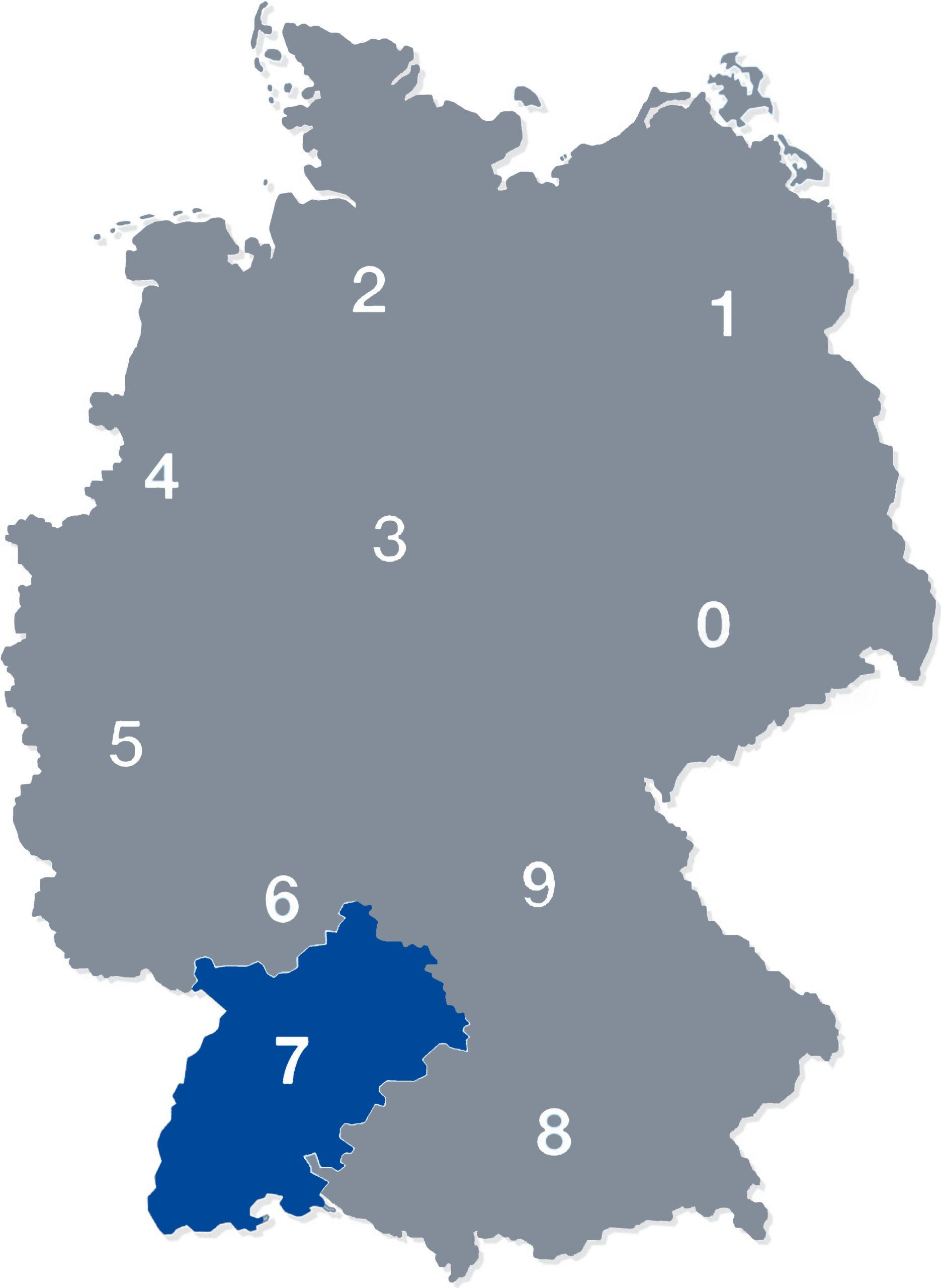deutschlandkarte plz 7