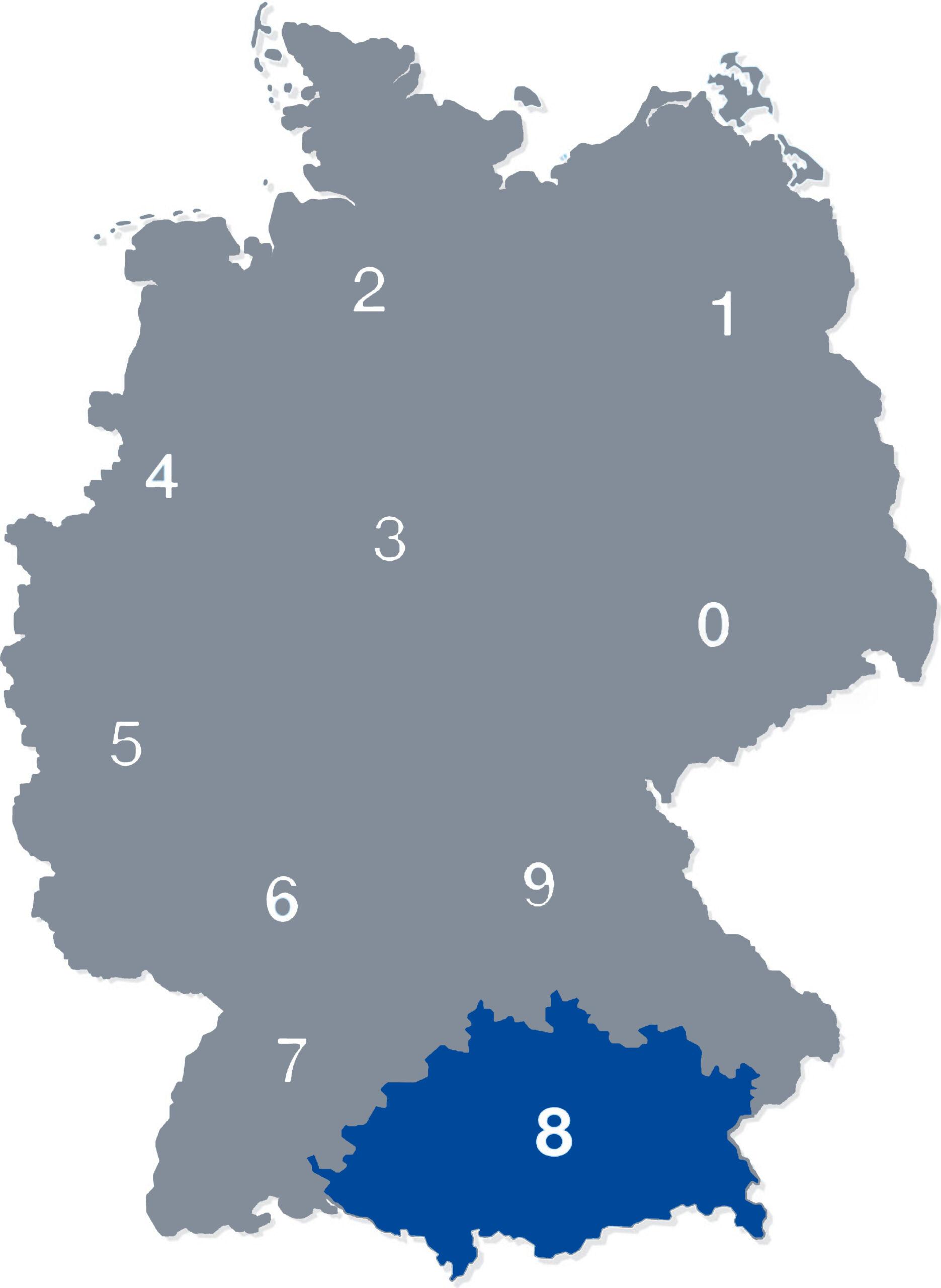 deutschlandkarte plz 8