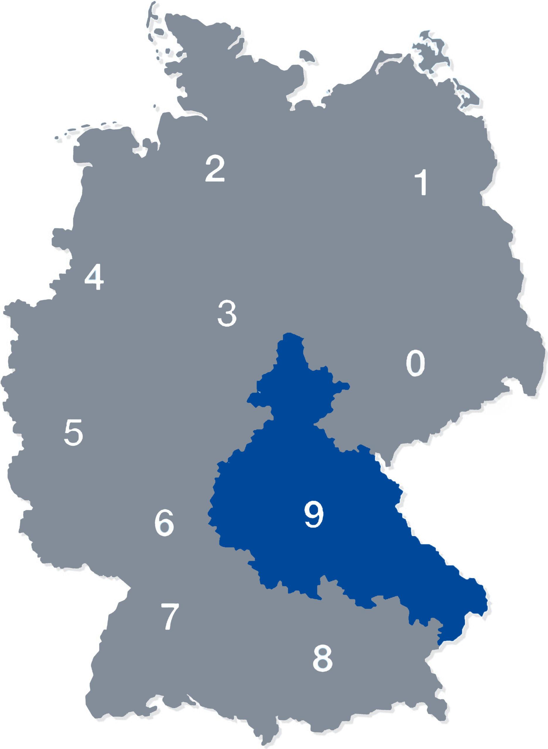 deutschlandkarte plz 9
